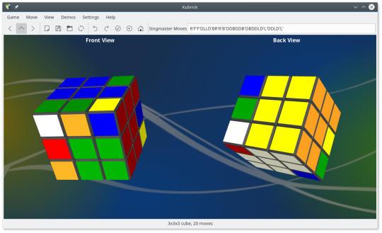 Kubrick, el cubo de Rubik™ de la Comunidad KDE