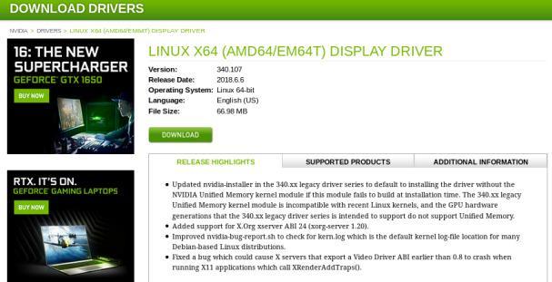 Cómo instalar drivers tarjeta nvidia en KDE Neon con Linux Kernel 5