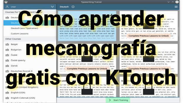Cómo aprender mecanografía gratis con KTouch