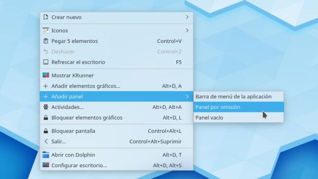Cómo restaurar la barra de tareas en Plasma de KDE