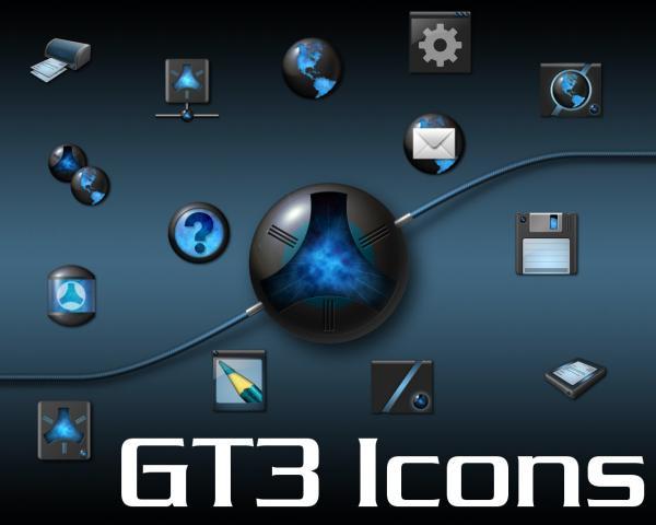 GT3 GT3EX Icon Set, una colección de iconos seria para Plasma