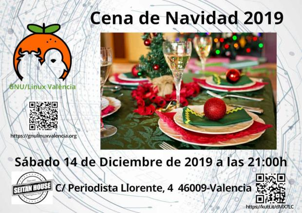 Cena de Navidad 2019 GNU/Linux Valencia