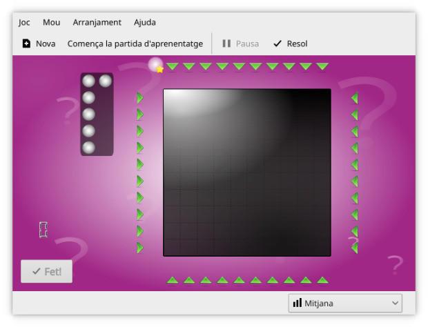 KBlackbox, un juego de lógica de KDE