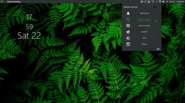 Añade sonidos de fondo a tu escritorio con Kbeat - Plasmoides de KDE (137)