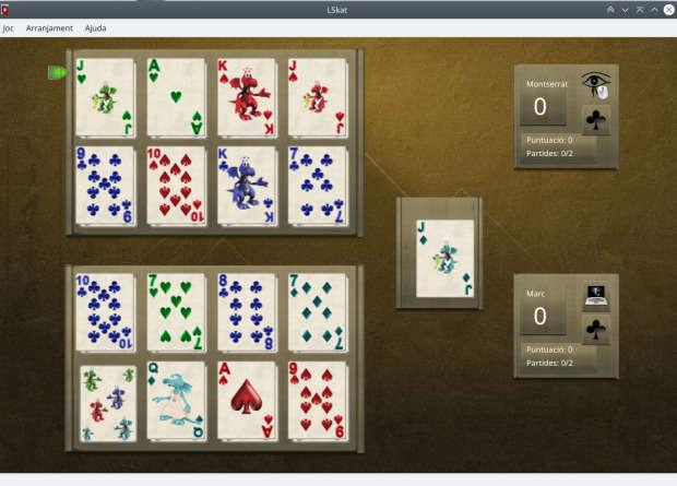 LsKat, otro juego de cartas  para Linux