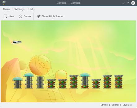 Bomber, un juego arcade para Linux