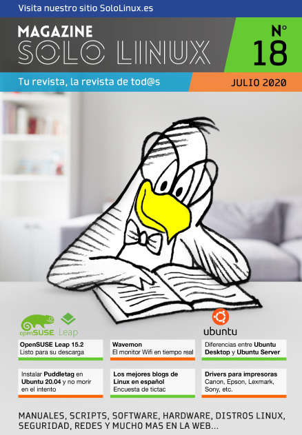Disponible el decimoctavo número de la revista digital SoloLinux