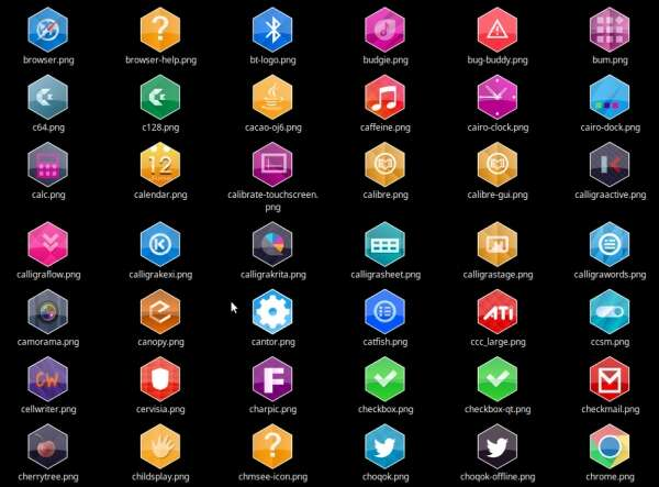 Bee Cells, un tema de iconos hexagonal para Plasma