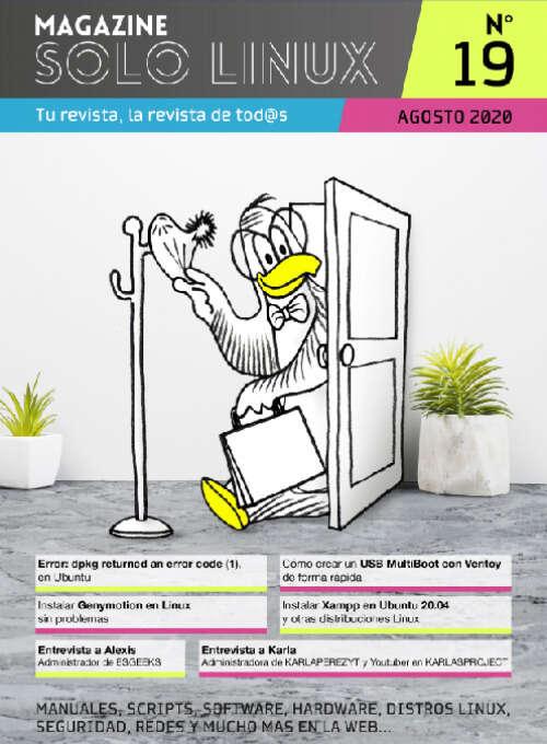 Disponible el decimonoveno número de la revista digital SoloLinux