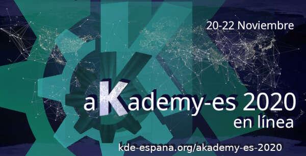 Ampliado el plazo para presentar tu charla para Akademy-es 2020 en línea
