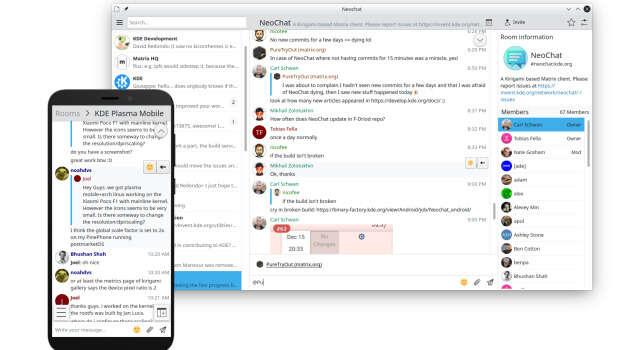 Cliente de Matrix de KDE Neochat