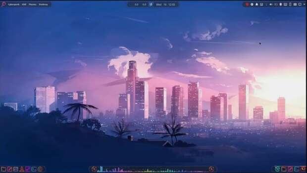 Escritorio Cyberpunk 2077 en Linux con Plasma - Vídeo