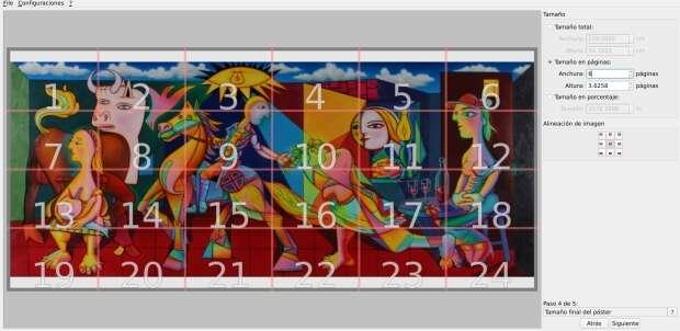 Convierte una imagen en un mosaico de varias hojas con PosteRazor