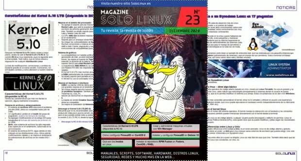 Disponible el vigesimotercer número de la revista digital SoloLinux