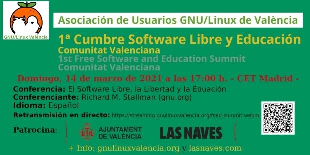 """Conferencia """"El Software Libre, la Libertad y la Educación"""" por Richard M. Stallman"""