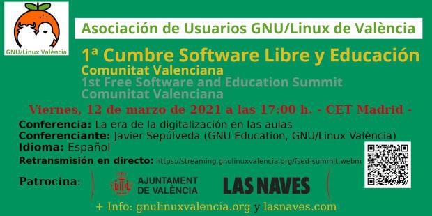La era de la digitalización en las aulas en la Cumbre de Software Libre y Educación Comunidad Valenciana