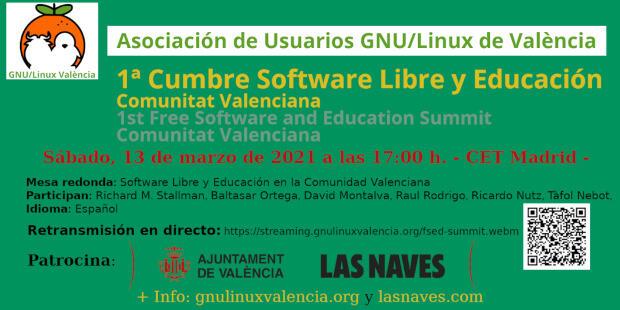 """Mesa redonda """"Software Libre y Educación en la Comunitat Valenciana"""" en la 1ª Cumbre Software Libre y Educación"""