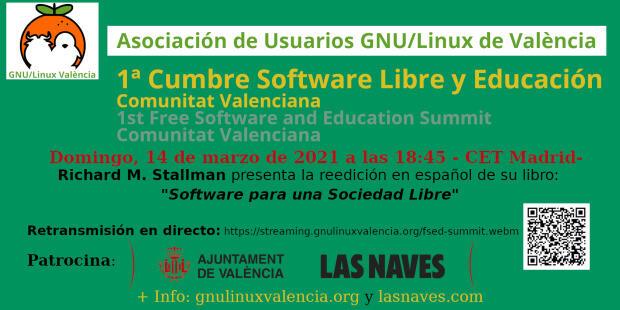 Richard M. Stallman presentará la reedición en español del libro «Software Libre para una Sociedad Libre» en la 1ª Edición de la Cumbre Software Libre y Educación