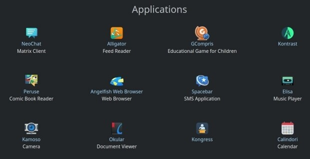 Las aplicaciones de Plasma Mobile - abril 2021