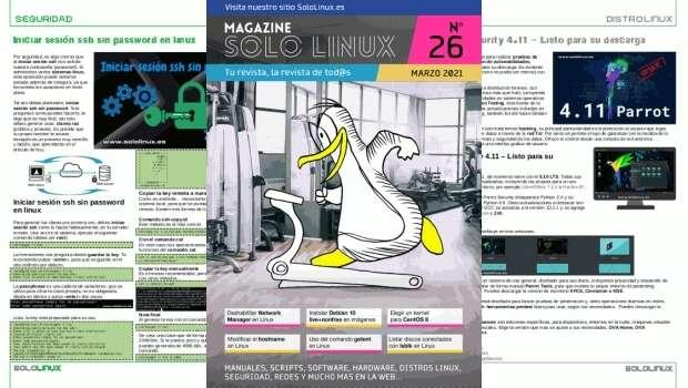 Disponible el vigesimosexto número de la revista digital SoloLinux