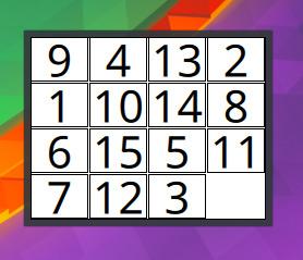 Sliding Numbers Puzzle - Plasmoides de KDE (178)