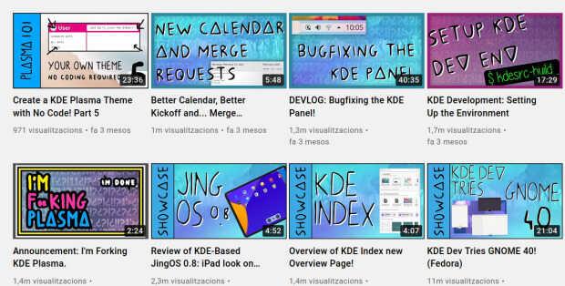 Canal KDE de Niccolò Ve en Youtube