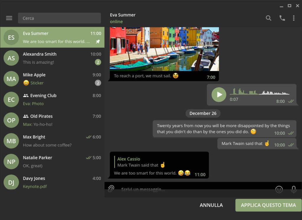 Temas para Telegram gratis en KDE Store
