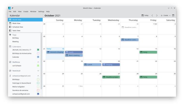 Kalendar, nueva aplicación calendario de KDE